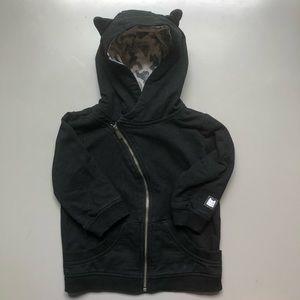 Kardashian Kids black hoodie in size 18 M